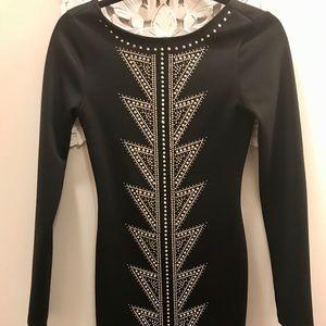 Arden B Black Full Sleeve Party Dress